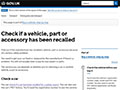 UK Government – Safety Recall Checks