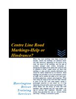 Centre-line-road-marking-help or-hindrance